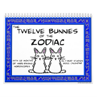 12 Bunnies of the Zodiac 2011 Calendar