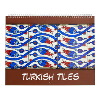 12 month of Turkish Tiles Wall Calendars