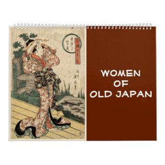 12 month Women of Old Japan  (Japanese art) Wall Calendars