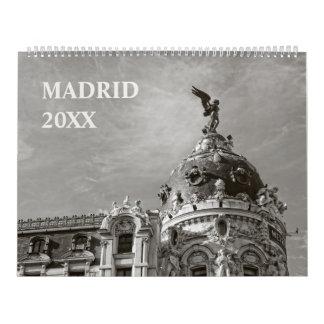 12 months Madrid Calendar