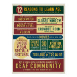 12 Reasons to Learn ASL. poster-