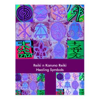 12 Reiki n Karuna Reiki Signs - Postcard