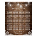 12 Tables Rustic String Lights Seating Chart