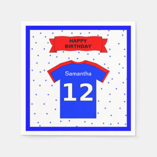 12th birthday party custom name disposable serviettes
