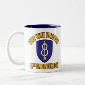12th Engineer Bn - Gulf War Vet Two-Tone Coffee Mug