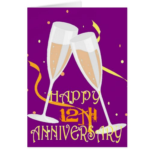 12th Wedding Anniversary Cards, Invitations, Photocards & More