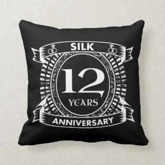 12TH wedding anniversary silk Cushion