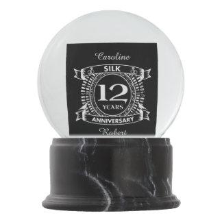 12TH wedding anniversary silk Snow Globe