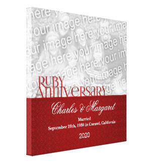 12x12 Ruby 60th Anniversary Photo Canvas Canvas Print