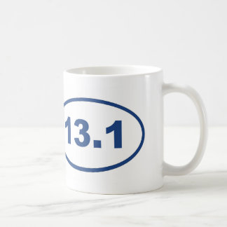13.1 blue oval coffee mug