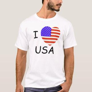 13 Stripes Heart, I love USA T-Shirt