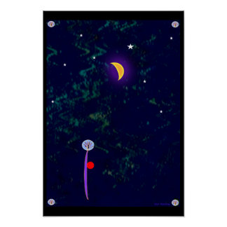 "13x19 Abstract ""Moon Ball"" {Poster"