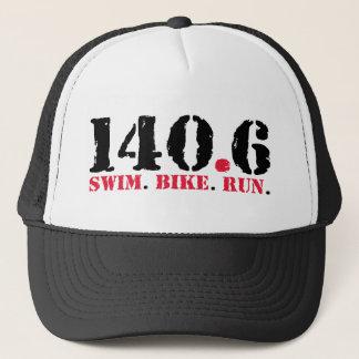 140.6 Swim Bike Run Trucker Hat