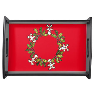 14.5x10 Wreath Customizable Serving Tray