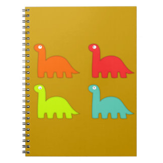 15562-dino-icons-vector ORANGE RED YELLOW BLUE DIN Notebooks