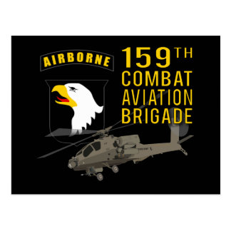 159th Combat Aviation Bde Apache Postcard