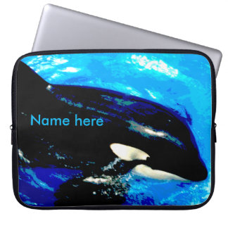 "15"" neoprene laptop sleeve for Mac/Pc, Orca whale"