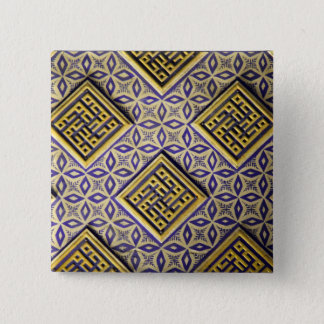 15th Century Protective Cool Vintage Pattern 15 Cm Square Badge