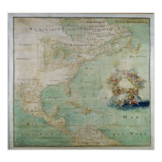 1681 View of North America Posters