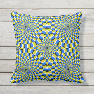 "16"" 16"" outdoor optical illusions throw pillow"