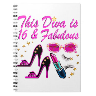 16 AND FABULOUS DIVA NOTEBOOKS