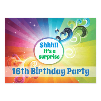 16th Birthday Religious Card Rainbow Blessings