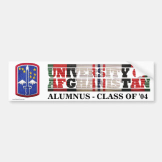 172nd Infantry BCT U of Afghanistan Sticker Bumper Sticker