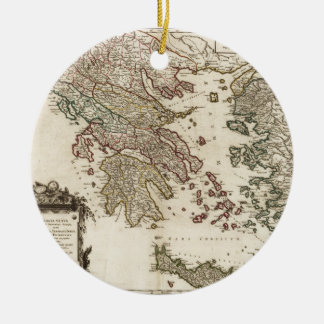 1752 Map of Ancient Greece Christmas Ornament