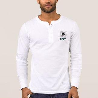 1777 ZomSkull Men's Canvas Henley Long Sleeve T-shirt