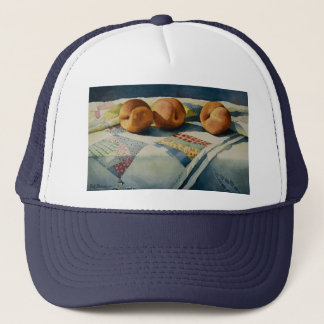 1786 Peaches on Quilt Hat