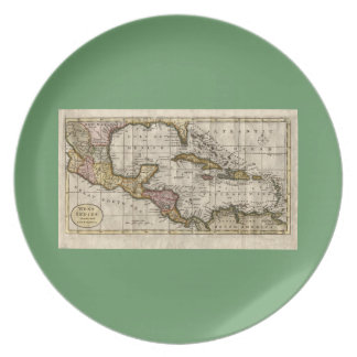1790 Map of The West Indies by Dilly and Robinson Plate