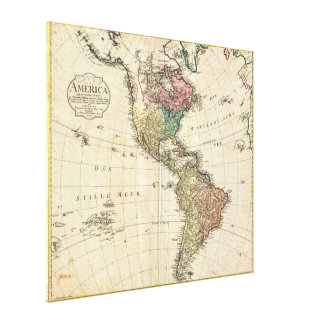 1796 Mannert Map of North and South America Gallery Wrap Canvas