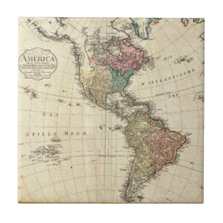 1796 Mannert Map of North and South America Tile