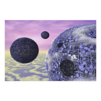 17-05 Three Moons Blue Science Fiction Posters