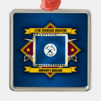17th Tennessee Infantry (v5) Silver-Colored Square Decoration
