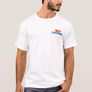 180° CHANGE - NObama T-shirt Upper Chest Imprint