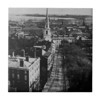 1859:  A view of Boston from the State House Tile