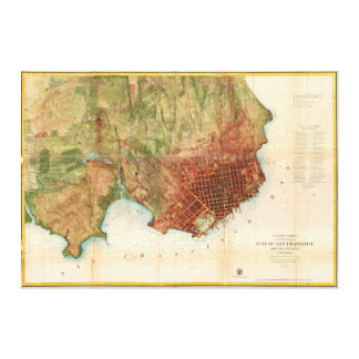 1859 Coast Survey Map of San Francisco Canvas Print