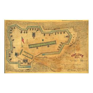 1862 Civil War Map Fort Lyon Alexandria Virginia Photo Print