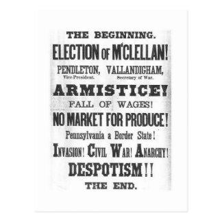 1864 Presidential Election Postcard
