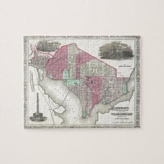 1866 Johnson Map of Washington D.C. Jigsaw Puzzle