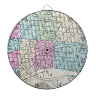 1870 Map New York City Central Park Dartboard