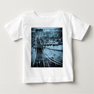1870s Construction of  Brooklyn Bridge New York Baby T-Shirt