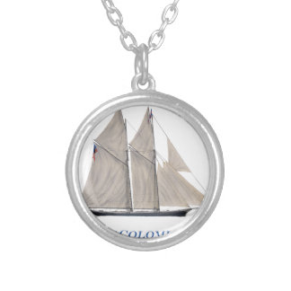 1871 Colombia Silver Plated Necklace