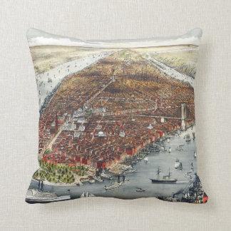 1876 New York - Throw Pillow