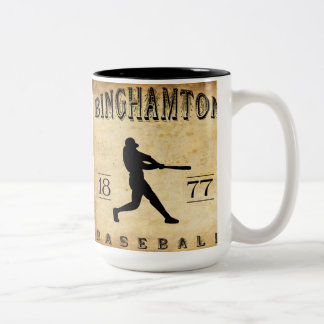 1877 Binghamton New York Baseball Two-Tone Coffee Mug