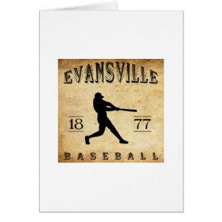 1877 Evansville Indiana Baseball Card