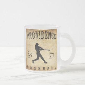 1877 Providence Rhode Island Baseball Frosted Glass Mug