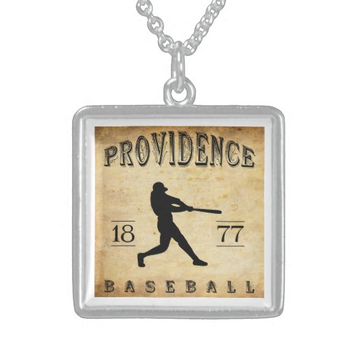1877 Providence Rhode Island Baseball Personalized Necklace