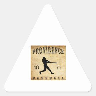 1877 Providence Rhode Island Baseball Triangle Sticker